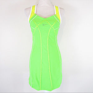 Nike Fit Dry Racerback Athletic Dress Neon Green
